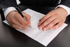 Заполнение документов на закрытие