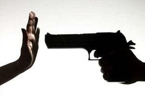Преступление рука и пистолет