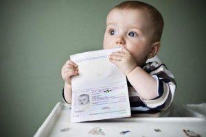 Загранпаспорт для младенца